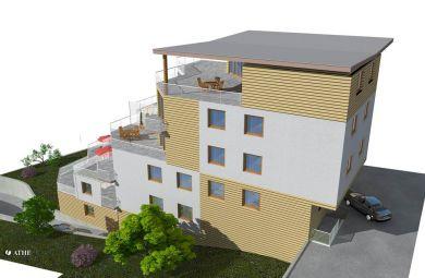 2007 - Terasový bytový dom v Bratislave - Na Hrebienku, AŠ a projekt pre ÚR, investor: Pražská dvelopment s.r.o.