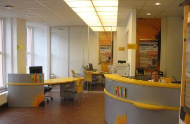Poštová banka Zvolen - 2008-2010-Návrhy a realizácie interiérov Poštovej Banky a.s. po celom Slovensku